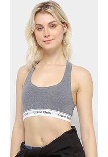 Top Calvin Klein Sem Bojo - Feminino-Grafite