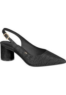 Scarpin Feminino Chanel Textura Croco Vizzano 1279202