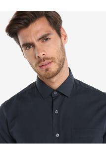 Camisa Manga Curta Lisa Bolso