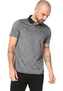 Camisa Polo Hurley Reta Mescla Cinza