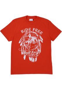 Camiseta Vermelha Estampada Wrangler 22059
