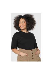 Camiseta Hering Lisa Preta