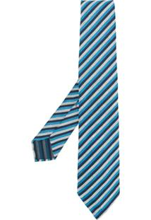 Kiton Gravata Listrada - Azul