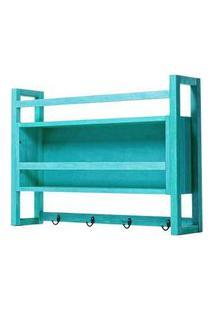 Armario Aereo Gourmet Troia Estrutura Azul 86Cm - 61424 Azul