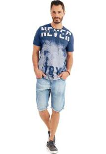 Camiseta Rovitex Plus - Masculino-Azul