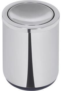 Lixeira Basculante Em Aço Inox Com Base Em Polipropileno 10 Litros - Tramontina