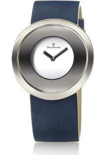 Relógio Jean Vernier Fundo Sofisticado Feminino - Feminino-Azul