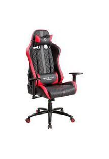 Cadeira Gamer Husky Gaming Hailstorm, Preto E Vermelho, Com Almofadas, Reclinável, Descanso De Braço 2D - Hha-Br