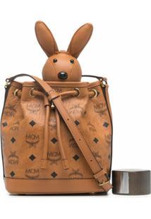 Mcm Bolsa Transversal Zoo Rabbit Mini - Marrom