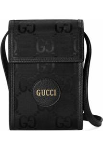 Gucci Porta-Celular Off The Grid Em Canvas Gg Supreme - Preto