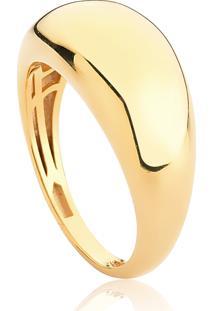 Anel De Prata 925 Com Banho Dourado Organic 1-Coleção Inizio