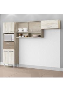 Cozinha Compacta Michele 7 Pt Essence E Brown