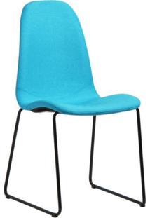 Cadeira De Aço Chantilly Acasa Móveis Azul Turquesa