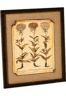 Quadro Decorativo De Parede Flores Com Moldura - Unissex