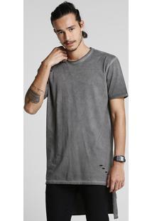 Camiseta Assimétrica Estonada