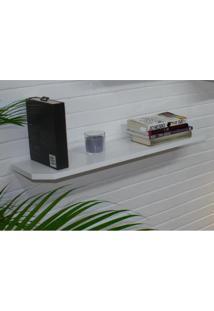 Prateleira De 80 Cm Para Decoração De Ambientes – Mdf Laqueado – Branco