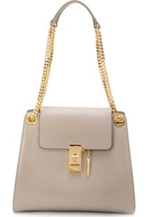 Chloé Anne Shoulder Bag - Cinza