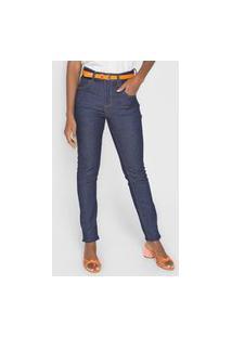 Calça Jeans Cantão Skinny Basic Azul-Marinho
