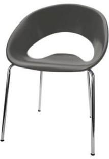 Cadeira One Base Fixa Cromada Cor Cinza - 22667 - Sun House