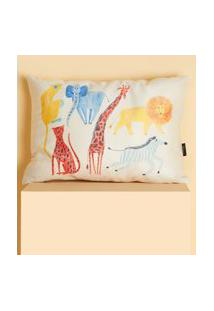 Amaro Feminino Design Up Living Capa De Almofada Infantil 42X30, Bichos