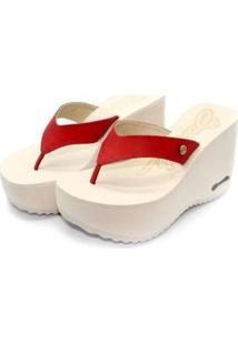 Tamanco Barth Shoes Sorvete Bicolor Feminino - Feminino-Vermelho