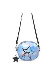 Bolsa Feminina Transversal Larissa Manoela Br67221 Azul