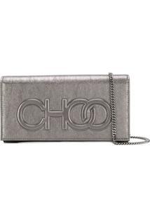 Jimmy Choo Santini Clutch Bag - Prateado