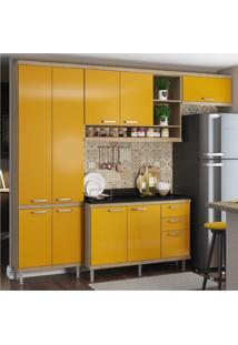 Cozinha Completa Multimã³Veis Com 5 Peã§As SicãLia 5841 Argila/Amarelo - Incolor - Dafiti