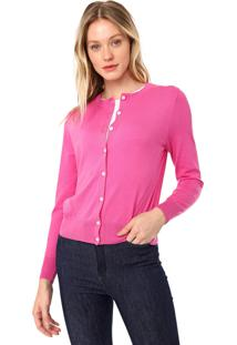 Cardigan Banana Republic Tricot Strech-Cotton Rosa
