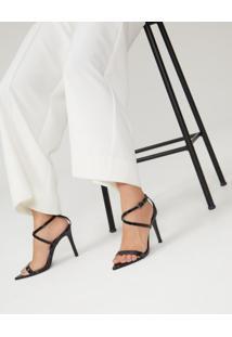Sandália Salto E Bico Fino