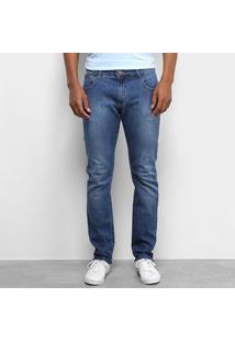Calça Jeans Slim Forum Paul Estonada Masculina - Masculino-Azul