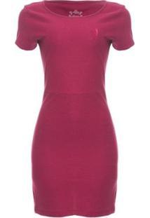 Vestido Malha Listrado Aleatory - Feminino-Pink