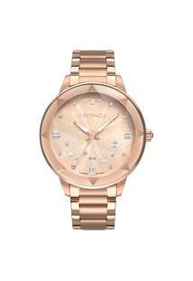 Relógio Technos Feminino Crystal Analógico Rosé 2039Cg4J