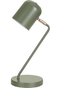 Luminária Mart De Mesa Verde Em Metal