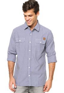 Camisa Manga Longa West Coast Xadrez Azul