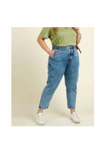 Calça Plus Size Feminina Mom Jeans Razon