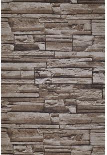 Papel De Parede Vinílico Lavável Maya Wallpaper 0,53 X 9,5M Pedra Marrom