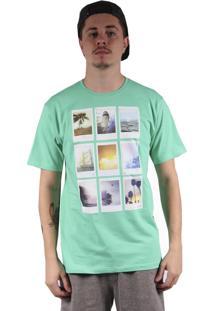 Camiseta Hurley Polaroids Verde