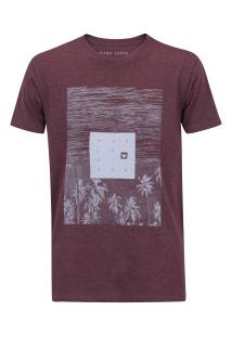 Camiseta Hang Loose Landscape - Masculina - Vinho