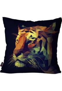 Capa De Almofada Avulsa Preto Tigre 60X60Cm