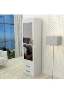 Armário Com Espelho E 2 Gavetas London Appunto - Branco - Multistock