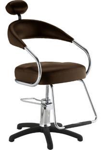 Cadeira Para Salao De Beleza Futura Plus Tabaco Dompel