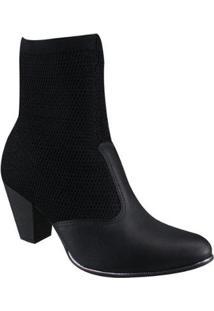 Bota Campesí Ankle Boot Feminino - Feminino-Preto