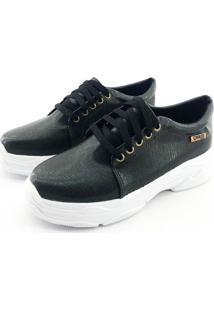 Tênis Chunky Quality Shoes Feminino Preto 34