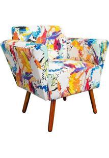 Poltrona Decorativa Dora Estampado Color D18 - D'Rossi