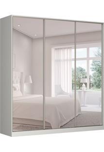 Guarda-Roupa Casal Com Espelho Tunas Vi 3 Pt 3 Gv Branco