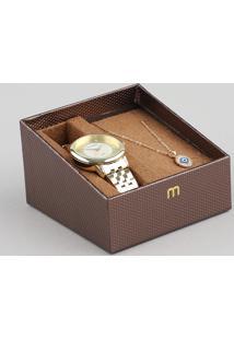 Kit De Relógio Analógico Mondaine Feminino + Colar - 99302Lpmgde1K1 Dourado - Único