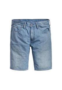 Bermuda Jeans Levis 511 Slim Hemmed Masculina - Masculino-Azul