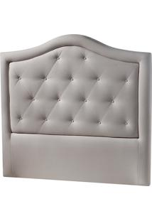 Cabeceira Casal Estofada Classic Curve Flórida-Sono Design - Cinza Claro