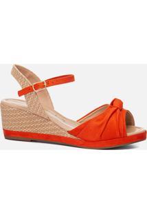 Anabela Feminina Milano Orange 11055